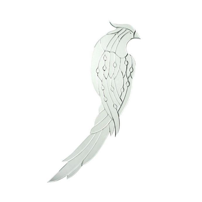 espejo decorativo pájaro