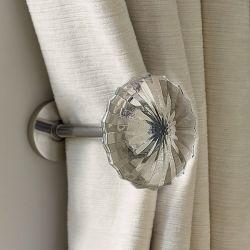 este alzapaños la sujeción perfecta para tus cortinas en bonito cristal tallado