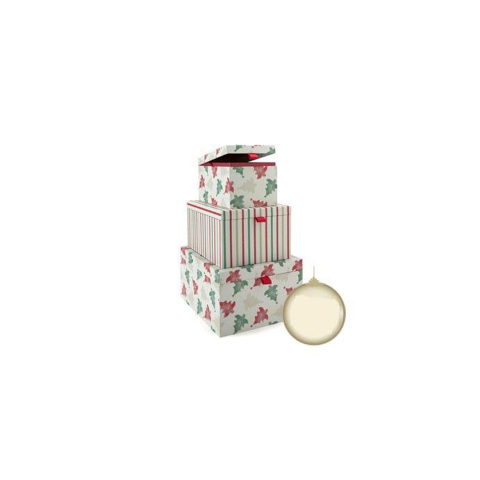 conjunto de tres cajas de almacenaje motivos navid