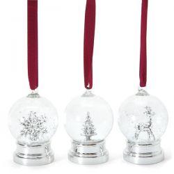 conjunto de tres bolas navideñas decorativas plate