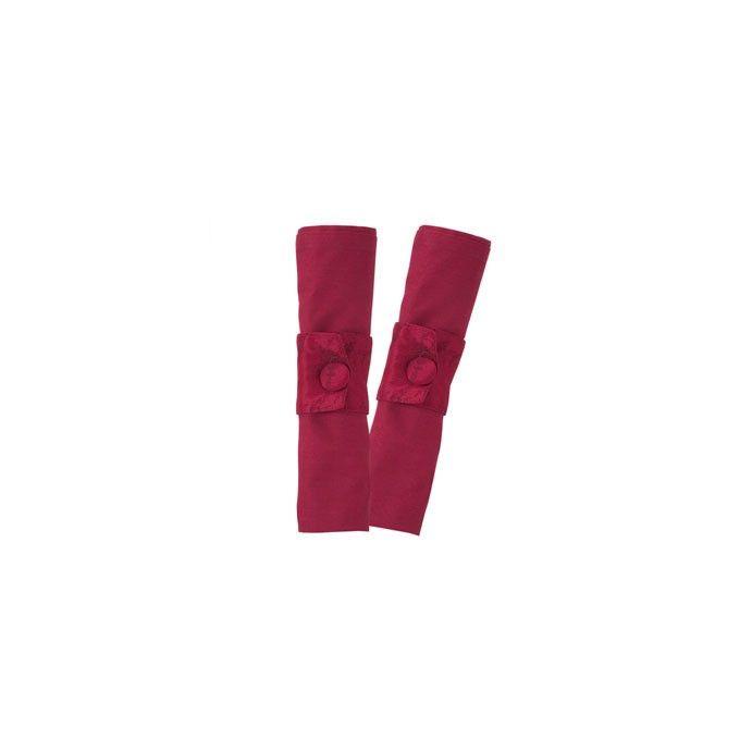 conjunto de dos servilletas en jacquard rojo rubí