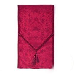 camino de mesa jacquard rojo rubí