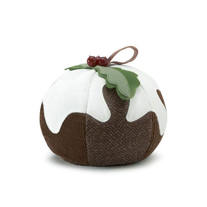 colgante decorativo con forma de pudin de navidad