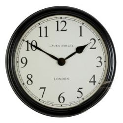 reloj de pared grande negro