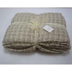 manta tejido natural crema