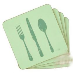juego de 4 posavasos eat your greens