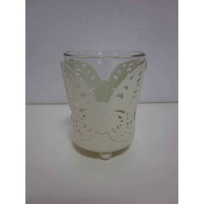 portavelas vaso mariposa