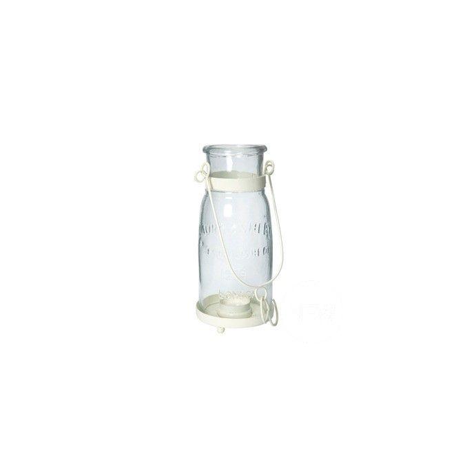 candelabro en forma de botella con asa