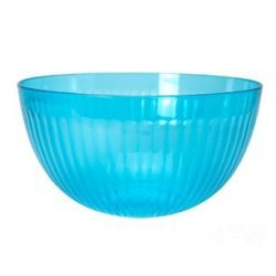 ensaladera de plastico turquesa para picnic