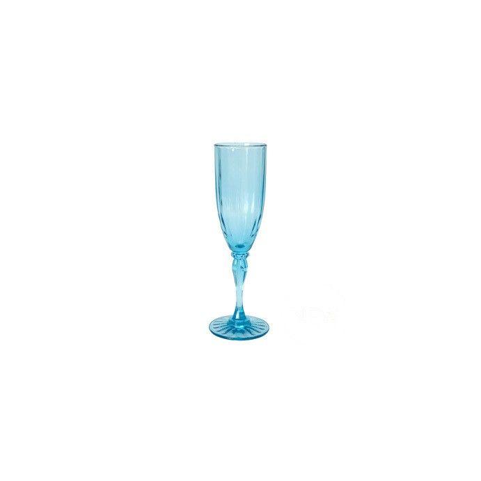 copa de champán de plastico turquesa para picnic