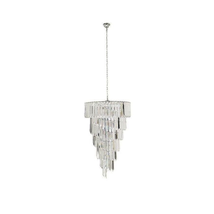 lámpara de techo de cristal en diseño espiral cónica
