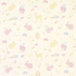 tejido infantil estampado woodland animals