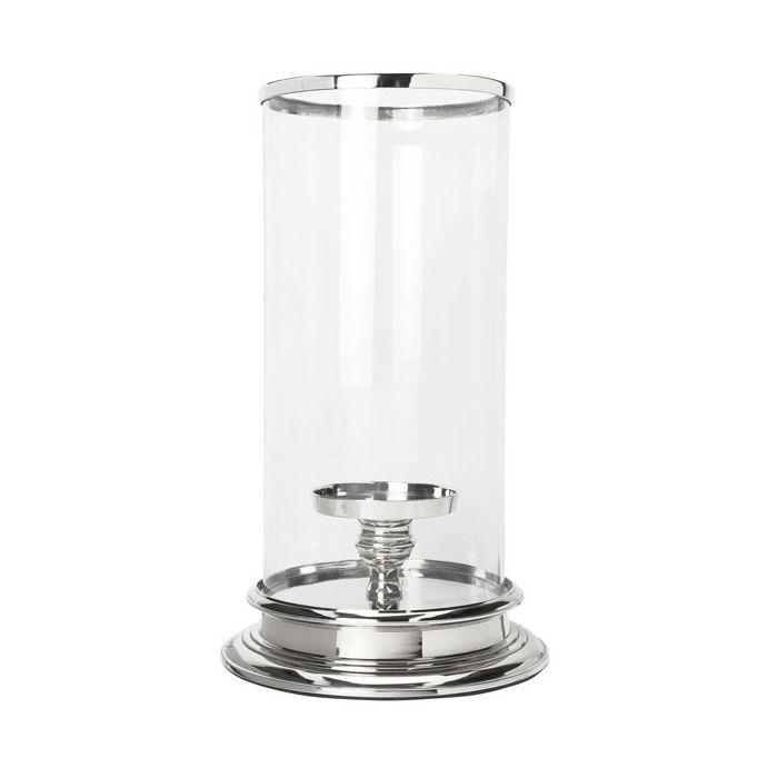 gran candelabro de cristal cilíndrico en cristal y