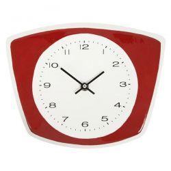 reloj de pared cerámico para cocina rojo