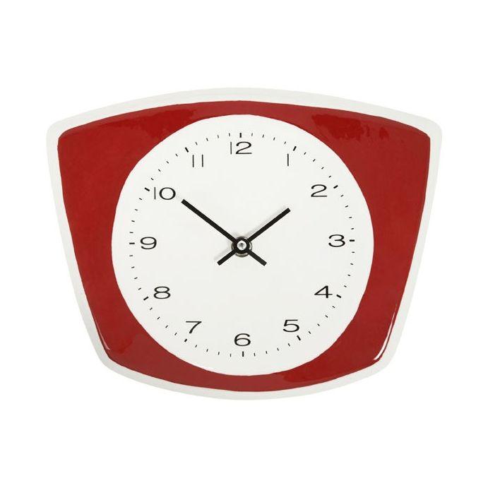Comprar reloj de pared cer mico para cocina rojo de dise o - Reloj cocina diseno ...