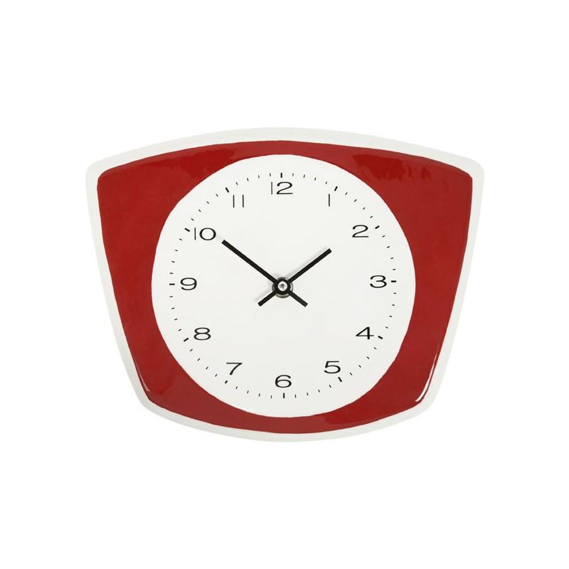 Comprar reloj de pared cerámico para cocina rojo de diseño - Laura ...