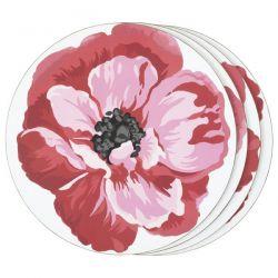 4 salvamanteles individuales red poppy