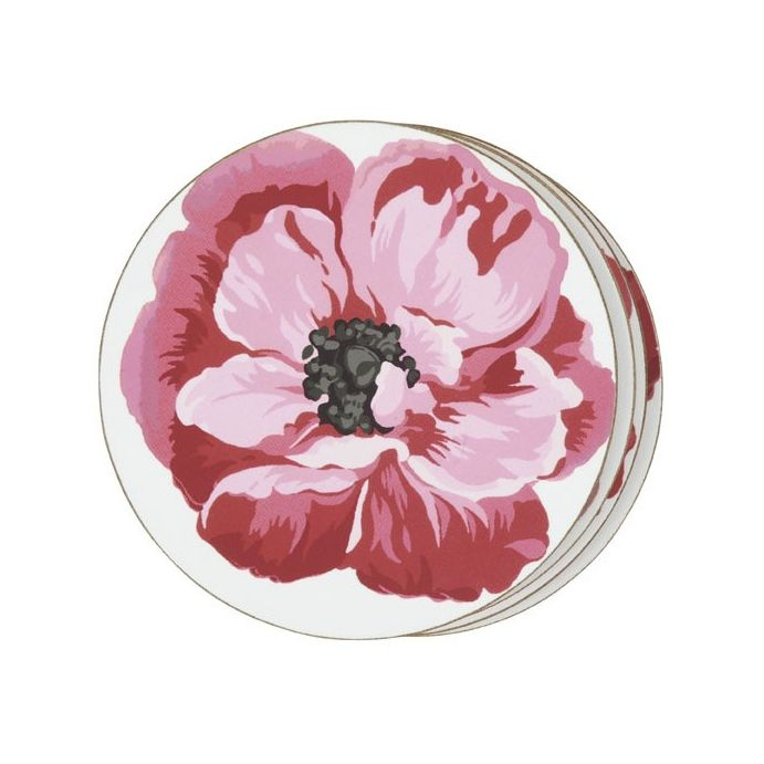 4 posavasos red poppy