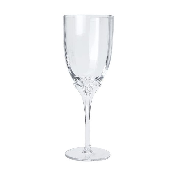 copa de vino transparente flower stem