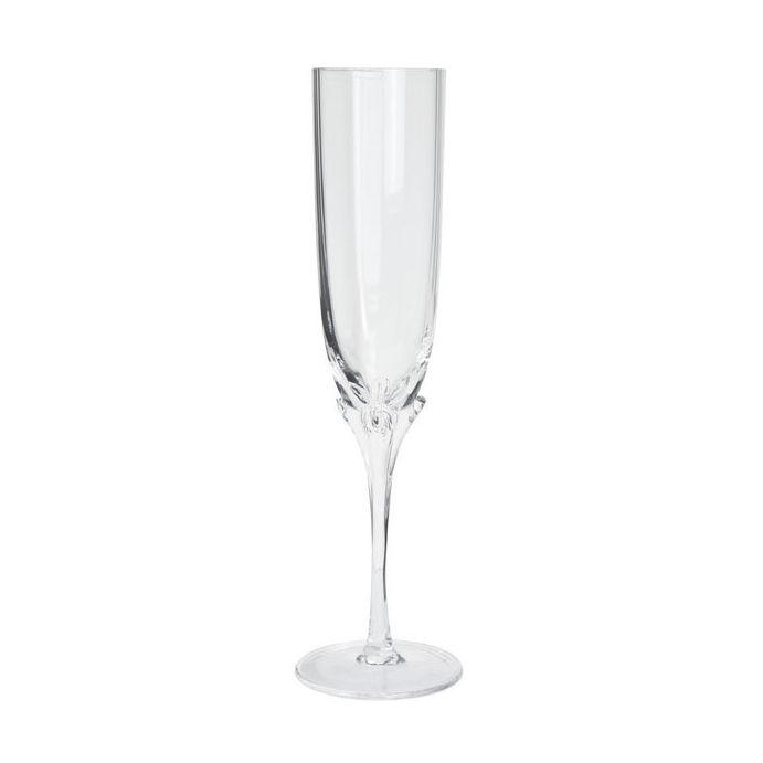 copa de champán transparente flower stem