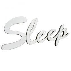 letrero espejado para colgar sleep