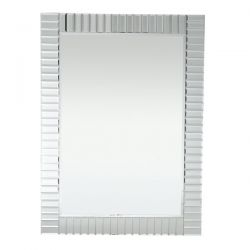 espejo rectangular de pared de marco biselado de diseño