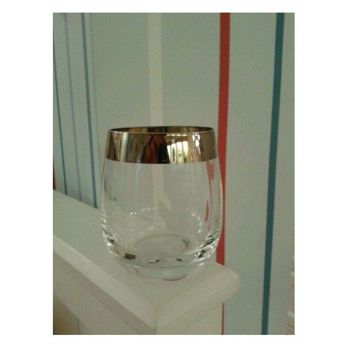 vaso de cristal platinum