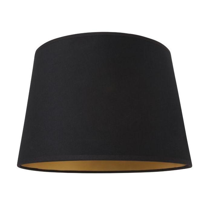 pantalla negra con interior dorado