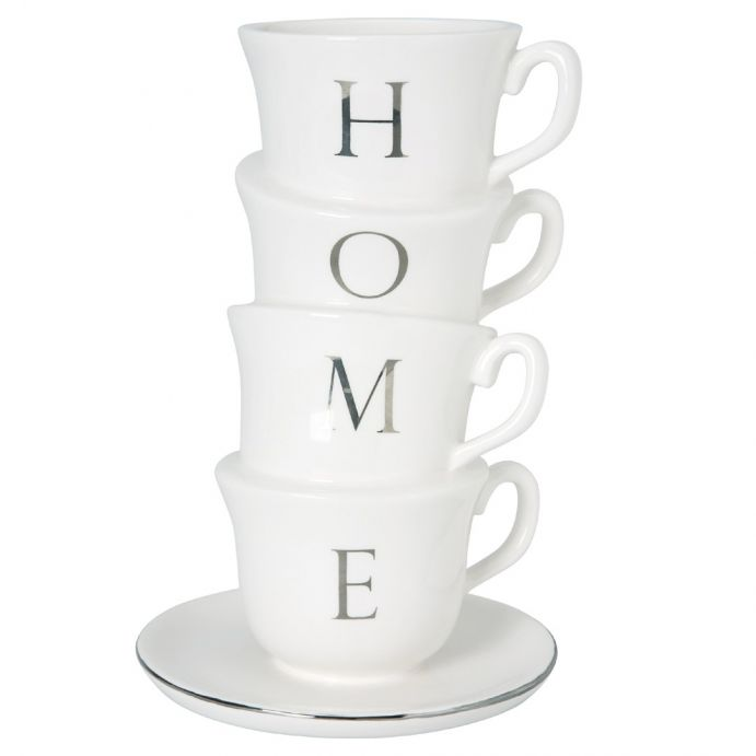 jarrón de porcelana tazas home