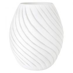 portavelas grande diseño espiral blanco