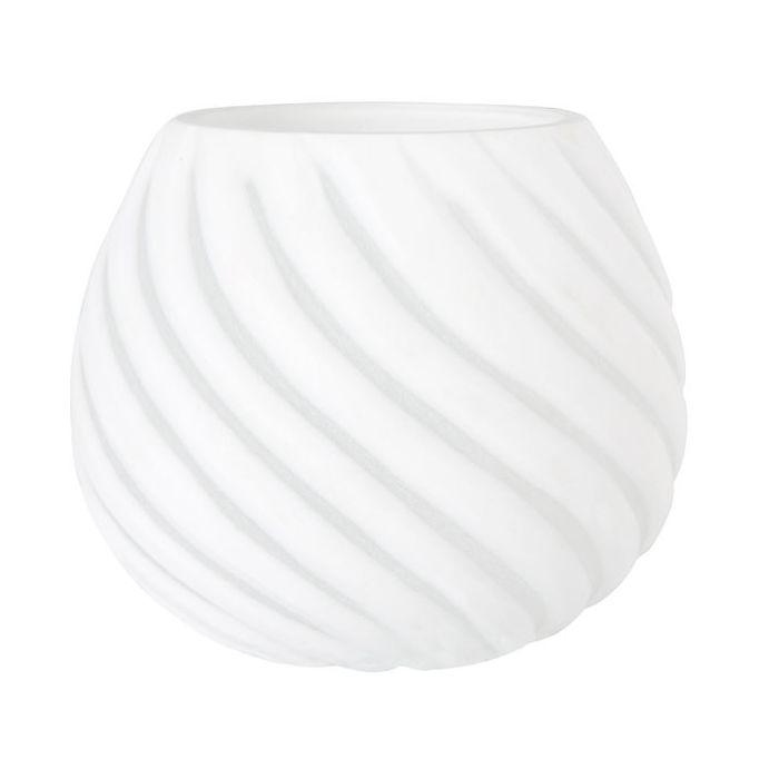 portavelas pequeño diseño espiral blanco