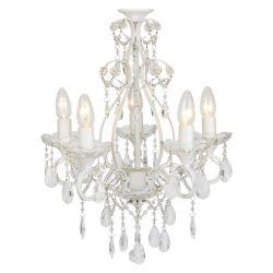 lámpara de techo de 5 brazos shamley blanco