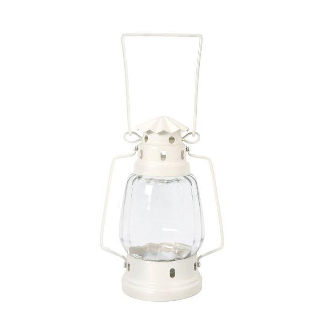 portavelas pequeña lámpara crema