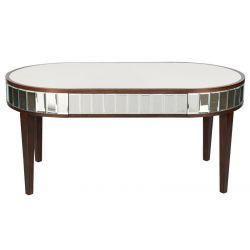 mesa de café de diseño espejado