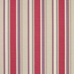 tejido de lino estampado eaton stripe arándano