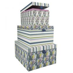 juego de tres cajas decorativas glass house