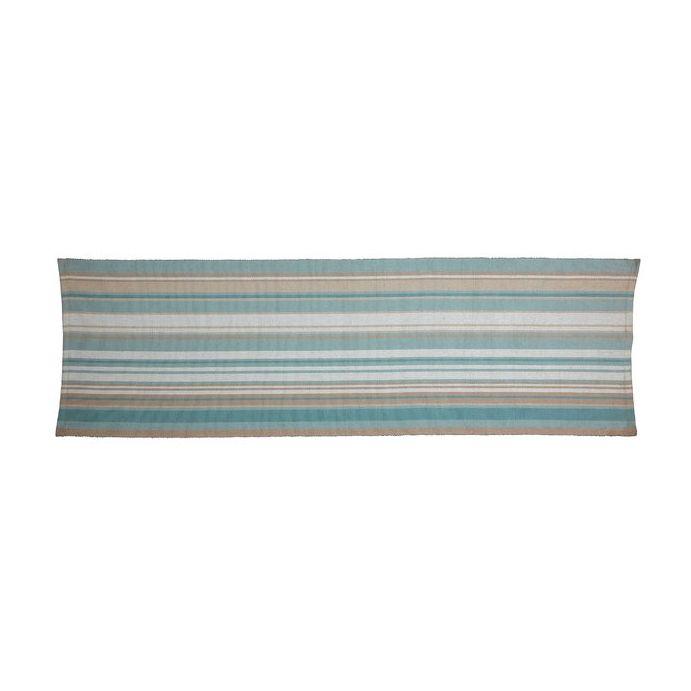 alfombra de pasillo azul verdoso