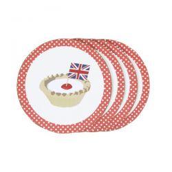 pack de 4 posavasos tartaleta Celebrate Britain