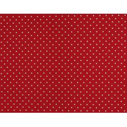 Tejido plastificado Polka Dot rojo