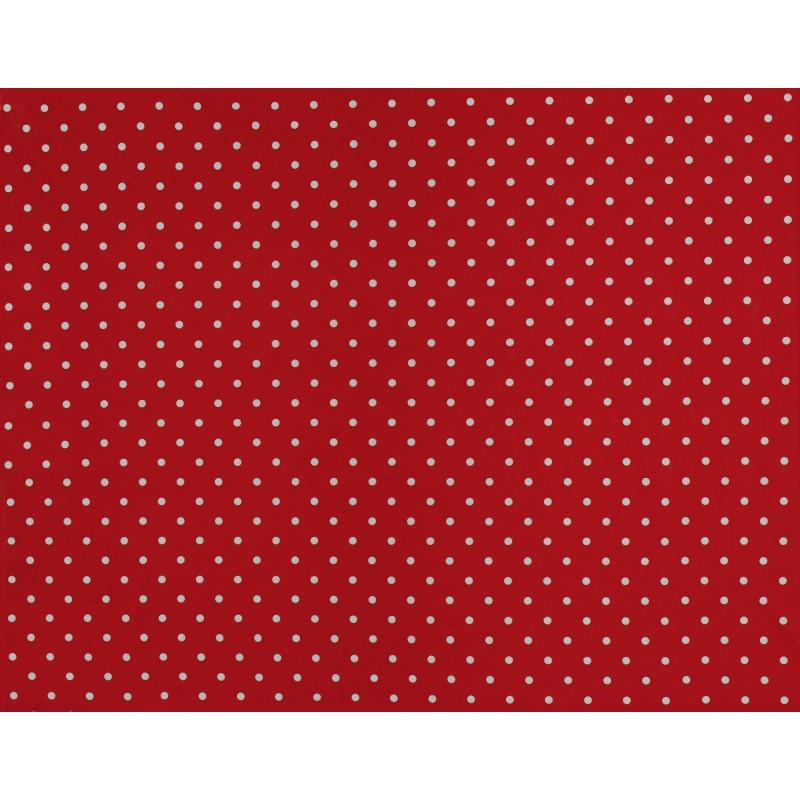 Comprar tejido plastificado polka dot rojo de dise o for Papel pintado plastificado