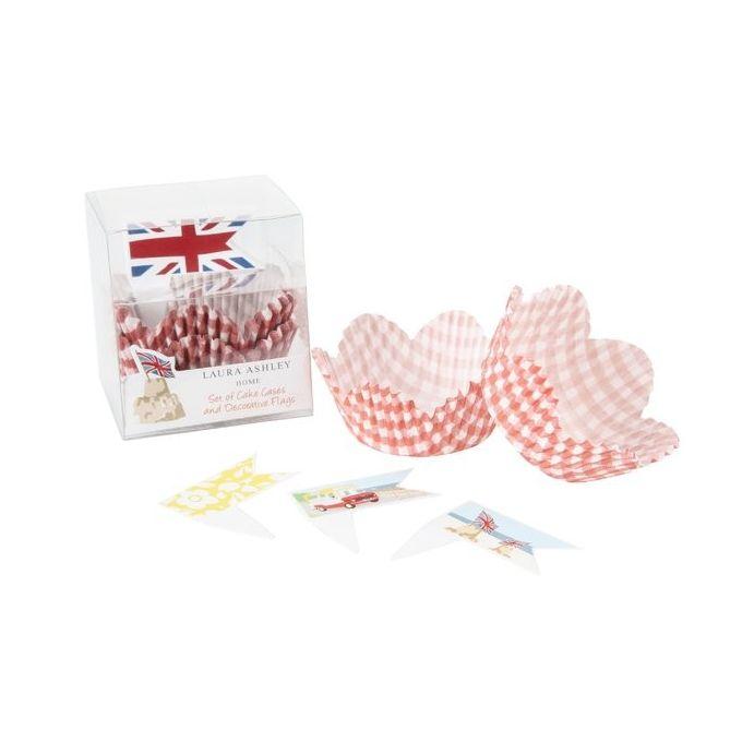 papel cupcakes y banderitas Celebrate Britain