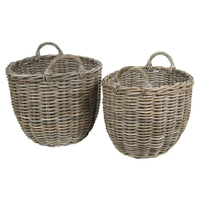 conjunto de dos cestas ovaladas kubu