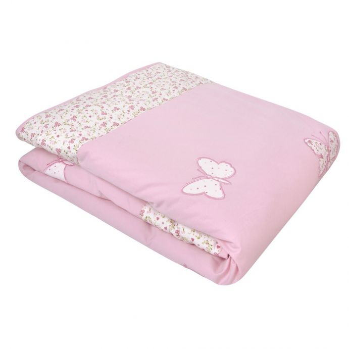 colcha cuna little butterfly