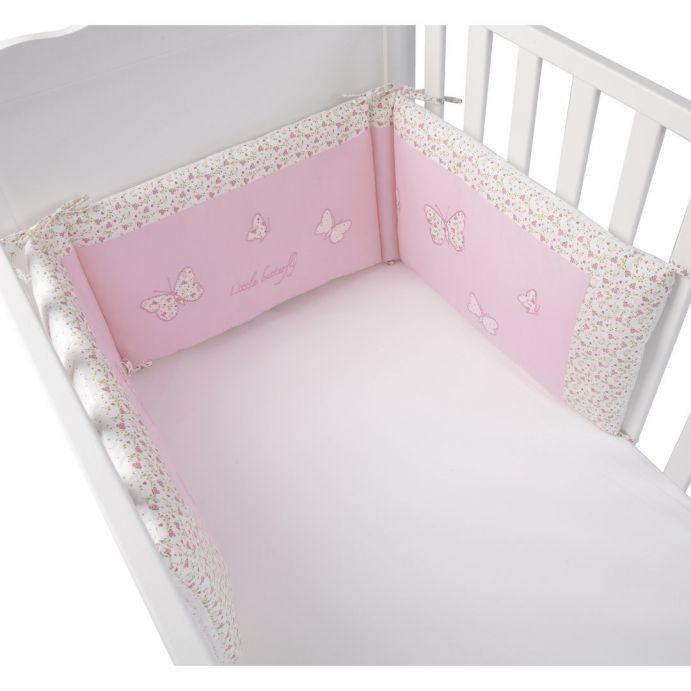 Comprar protector para cuna colección bebé little butterfl de diseño ...