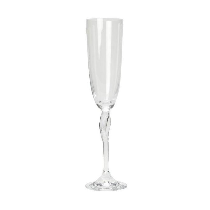 copa de champán aflautada diseño fleur stem