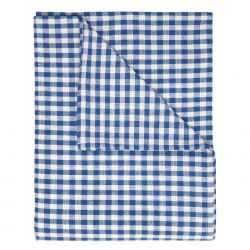mantel de tela gingham azul