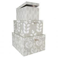 conjunto de 3 cajas nature