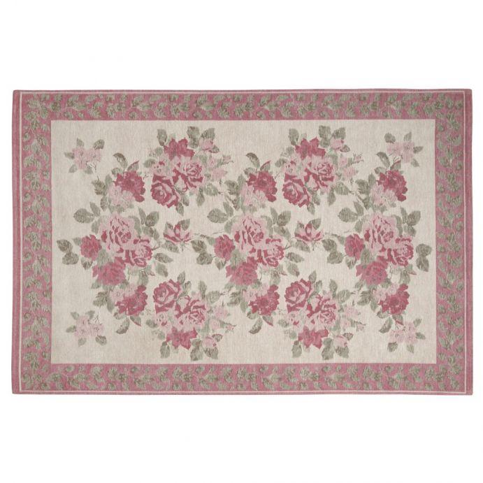 alfombra clásica roses cassis rosa