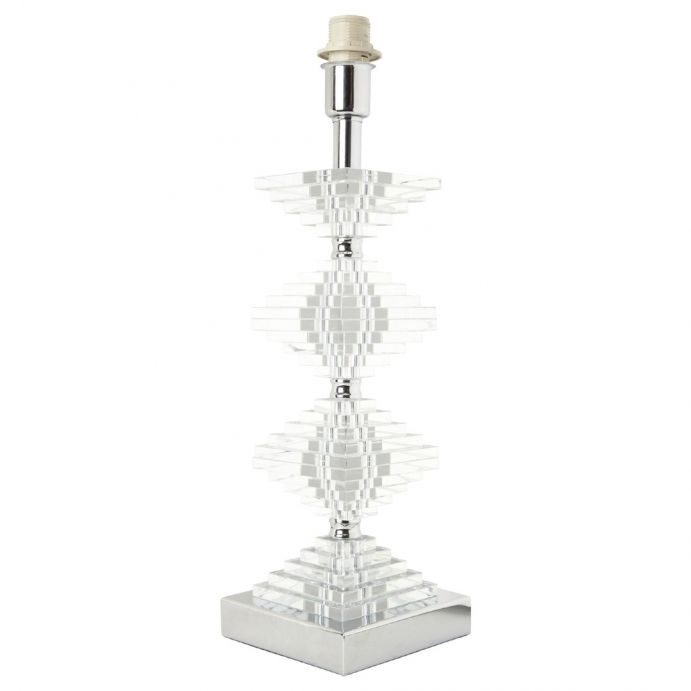 base de lámpara de cristal apilado formado rombos de diseño