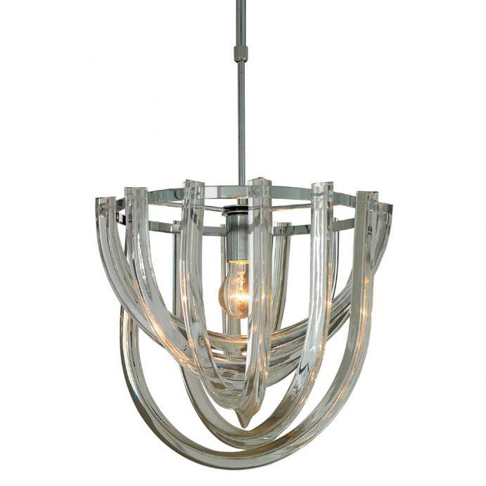 lámpara de techo de piezas acrílicas entrelazadas de diseño